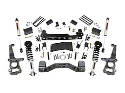Rough Country 4-Inch Suspension Lift Kit with Lifted Struts and V2 Monotube Shocks (15-20 4WD F-150, Excluding Raptor)