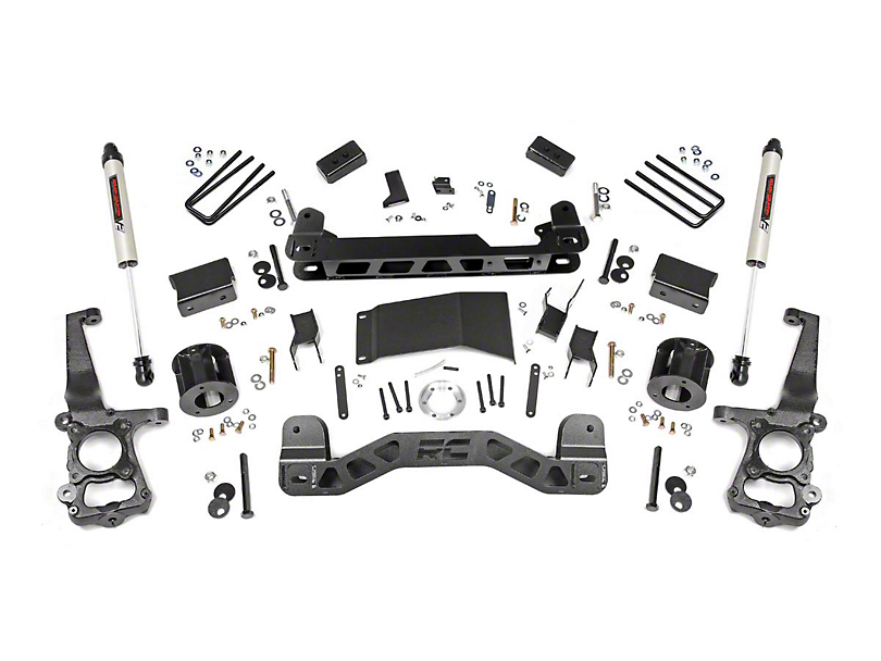 Rough Country 4-Inch Suspension Lift Kit with Premium N3 Shocks (15-20 4WD F-150, Excluding Raptor)