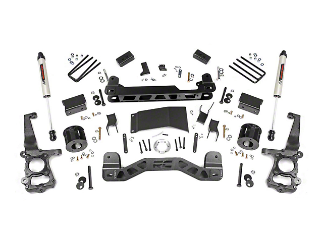 Rough Country 4 in. Suspension Lift Kit w/ Premium N3 Shocks (15-20 4WD F-150, Excluding Raptor)
