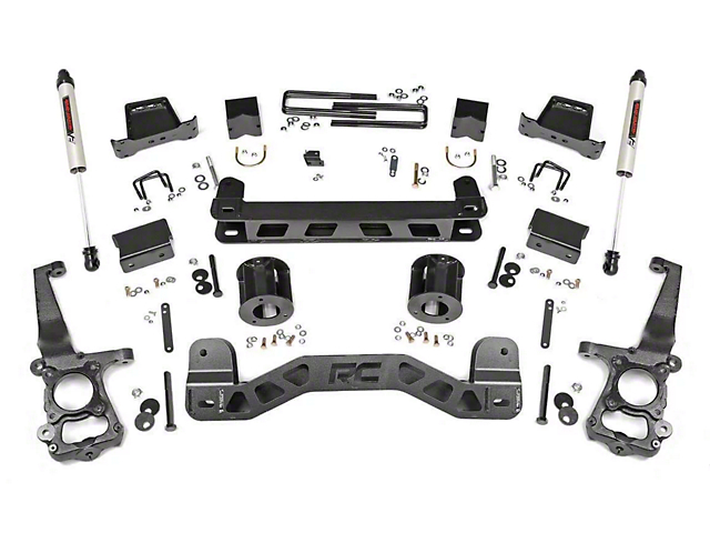 Rough Country 6 in. Suspension Lift Kit w/ V2 Monotube Shocks (15-20 2WD F-150)