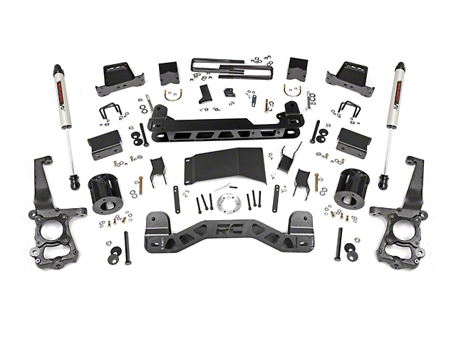 Rough Country 6 in. Suspension Lift Kit w/ V2 Monotube Shocks (15-20 4WD F-150 SuperCab, SuperCrew, Excluding Raptor)