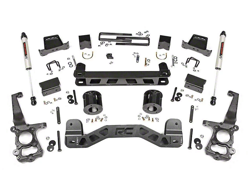 Rough Country 6 in. Suspension Lift Kit w/ V2 Monotube Shocks (11-14 2WD F-150)