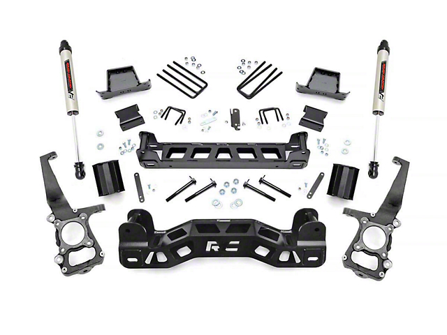 Rough Country 6 in. Suspension Lift Kit w/ V2 Monotube Shocks (09-10 2WD F-150)