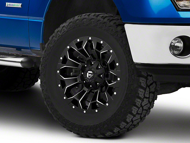 Fuel Wheels Assault Satin Black Milled 6-Lug Wheel; 18x9; -12mm Offset (09-14 F-150)