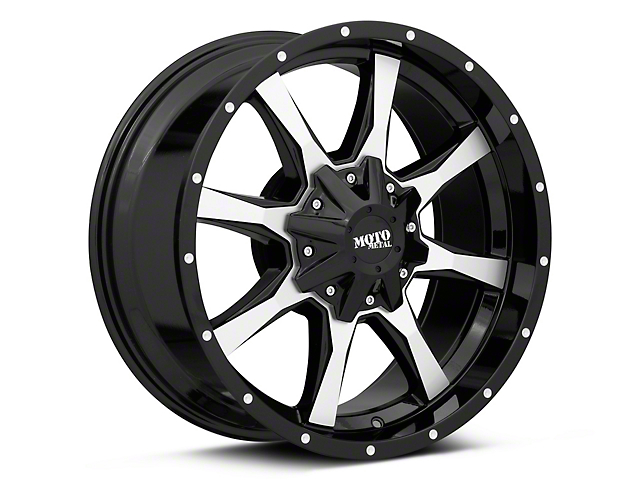 Moto Metal MO970 Gloss Black Machined 6-Lug Wheel; 16x8; 0mm Offset (16-21 Tacoma)