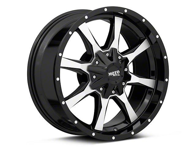 Moto Metal MO970 Gloss Black Machined Wheel; 17x8 (20-21 Jeep Gladiator JT)