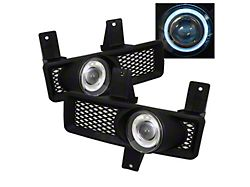 Halo Projector Fog Lights with Switch; Clear (97-98 F-150)