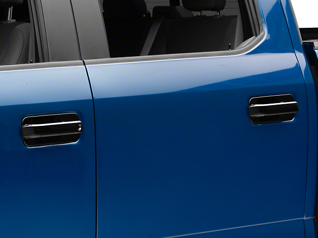 Door Handle Covers with Bezels; Black (15-20 F-150 SuperCrew)