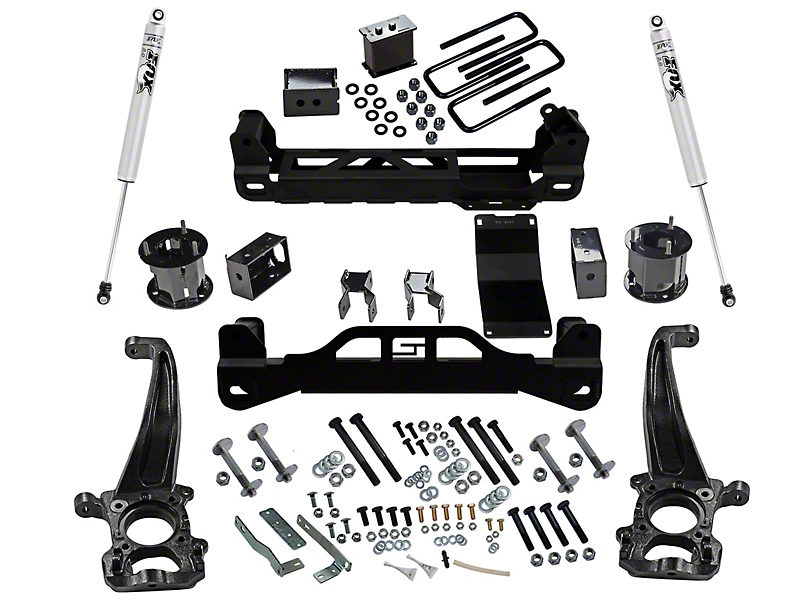 SuperLift 4.50-Inch Suspension Lift Kit with Fox Shocks (15-20 4WD F-150 SuperCab, SuperCrew, Excluding Raptor)
