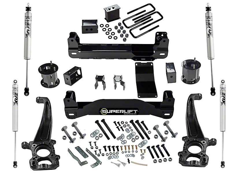 SuperLift 6-Inch Suspension Lift Kit with Fox Shocks (15-20 4WD F-150 SuperCab, SuperCrew, Excluding Raptor)