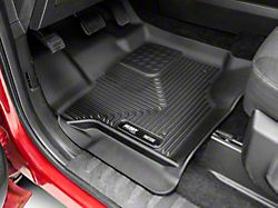 Husky X-Act Contour Front and Second Seat Floor Liners; Black (15-22 F-150 SuperCrew)