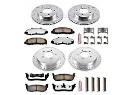 Power Stop Z36 Extreme Truck and Tow 5-Lug Brake Rotor and Pad Kit; Front and Rear (99-Early 00 4WD F-150)