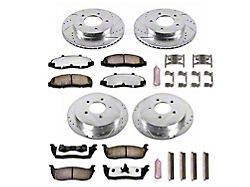Power Stop Z36 Extreme Truck and Tow 5-Lug Brake Rotor and Pad Kit; Front and Rear (Late 00-03 4WD F-150)