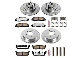 Power Stop Z36 Extreme Truck and Tow 5-Lug Brake Rotor and Pad Kit; Front and Rear (Late 00-03 2WD F-150)
