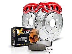 Power Stop Z36 Extreme Truck and Tow 6-Lug Brake Rotor, Pad and Caliper Kit; Rear (15-17 F-150 w/ Electric Parking Brake)