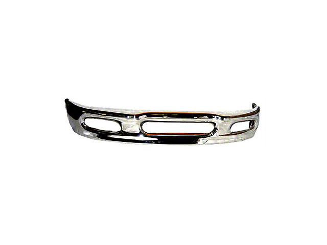Front Bumper with Fog Light Openings; Chrome (97-98 F-150)