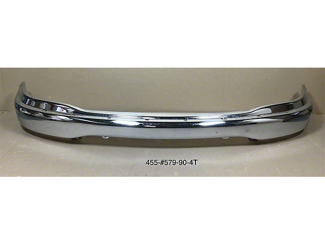 Front Bumper without Fog Light Openings; Chrome (99-03 F-150, Excluding Lightning)