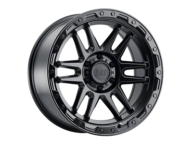 Black Rhino Apache Matte Black with Black Bolts 6-Lug Wheel; 20x9; -18mm Offset (05-15 Tacoma)