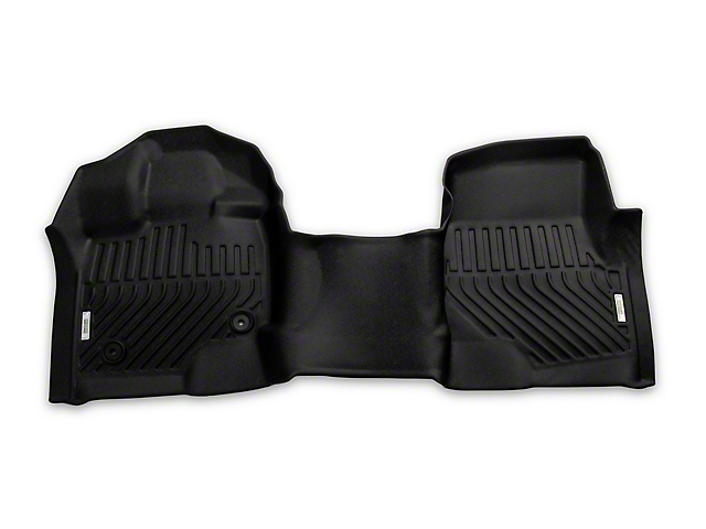 Proven Ground Precision Molded Front Over the Hump Floor Liners; Black (15-21 F-150 SuperCab, SuperCrew)