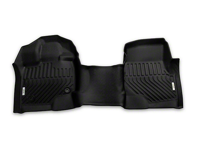 Proven Ground Precision Molded Front Over the Hump and Rear Floor Liners; Black (15-21 F-150 SuperCrew)