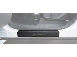 Front Door Sill Protection with F-150 Logo; TUF-LINER Black; Black and White (15-22 F-150)