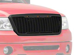SpeedForm Baja Upper Replacement Grille with LED Lighting; Matte Black (04-08 F-150)