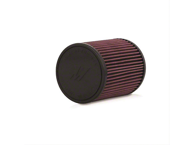 Mishimoto Air Filter; Performance; 5-Inch Inlet; 7-Inch Filter Length (Universal; Some Adaptation May Be Required)