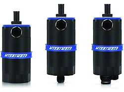 Mishimoto Baffled Oil Catch Can; Blue (Universal; Some Adaptation May Be Required)