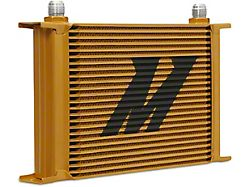 Mishimoto Universal 25-Row Oil Cooler; Gold (Universal; Some Adaptation May Be Required)