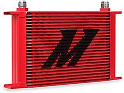 Mishimoto Universal 25-Row Oil Cooler; Red (Universal; Some Adaptation May Be Required)