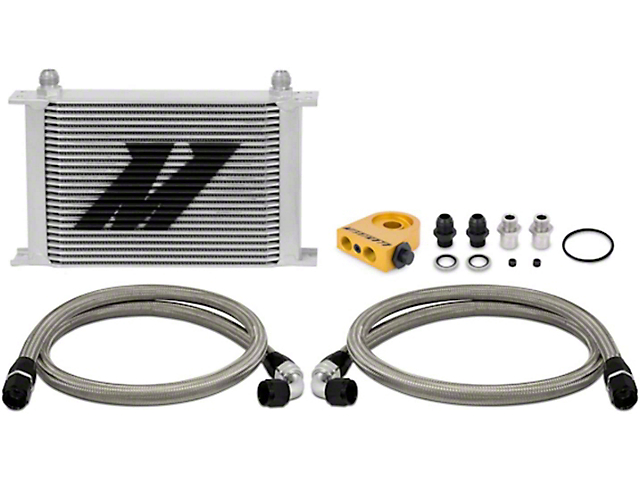 Mishimoto Universal 25-Row Thermostatic Oil Cooler Kit; Silver (Universal; Some Adaptation May Be Required)