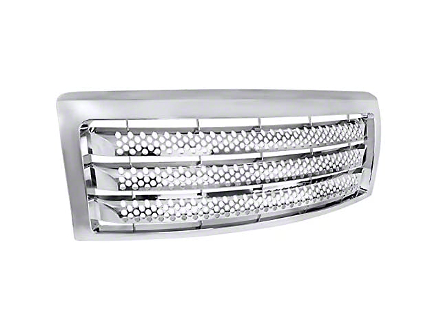 Grille; Round Punch CNC Machined Main; Chrome (04-08 F-150)