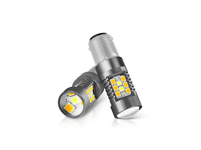 LED Chip Machine-Soldered Bulbs; White/JDM Yellow; 1157/BAY15D