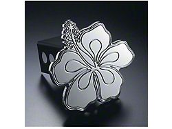 Hibiscus Hitch Cover; Polished (Universal; Some Adaptation May Be Required)