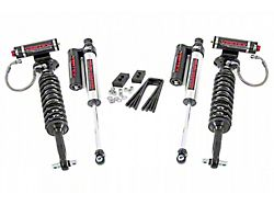 Rough Country 2-Inch Front Leveling Lift Kit with Adjustable Vertex Coil-Overs and Vertex Reservoir Shocks (21-22 4WD F-150, Excluding Raptor)