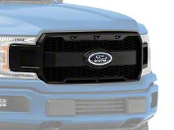 MP Concepts Upper Replacement Grille with LED DRL; Matte Black (18-20 F-150, Excluding Raptor)