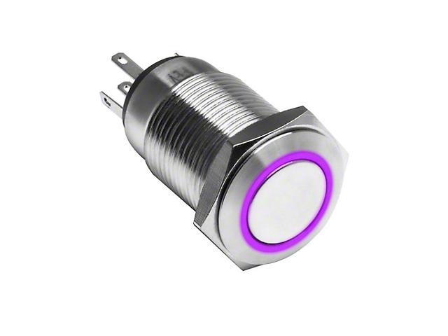 Oracle Switches; Momentary Flush Mount LED Switch, U/VPurple