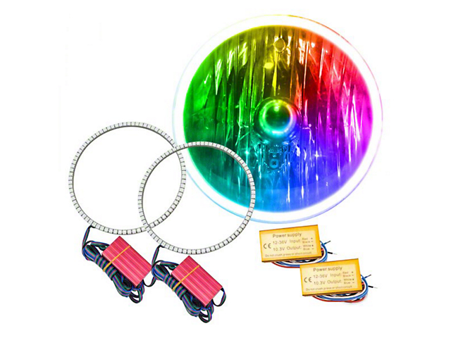 Oracle Halo Kit; 7 in. Round Exterior Waterproof LED Halo Kit, ColorSHIFT