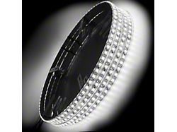 Oracle White LED Illuminated Wheel Rings (Universal; Some Adaptation May Be Required)