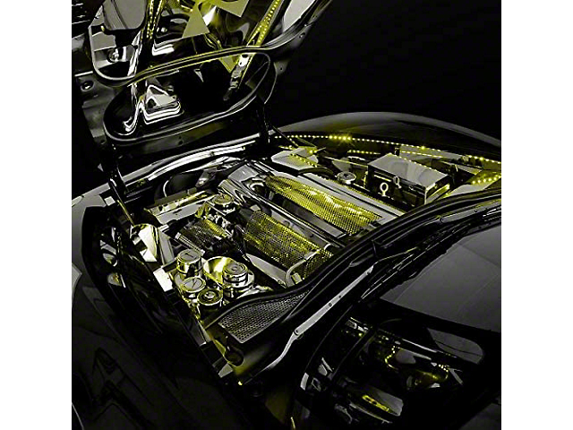 Oracle Engine Bay Kit; Engine Bay LED Lighting Kit 48 in., Yellow