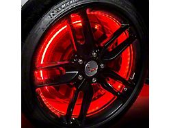 Oracle Red Double Row LED Illuminated Wheel Rings (Universal; Some Adaptation May Be Required)