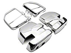 Towing Mirror Covers; Chrome (18-22 F-150)