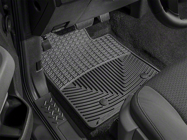 Weathertech Floor Mat Set; All Weather; Black Front And Rear (15-21 F-150 SuperCab)