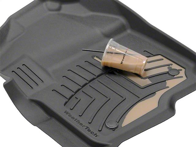 Weathertech Floor Mat Set; Black; Rear (15-21 F-150 SuperCrew)