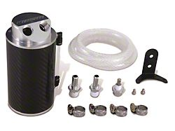 Mishimoto Engine Oil Separator; Carbon Fiber Oil Catch Can (Universal; Some Adaptation May Be Required)