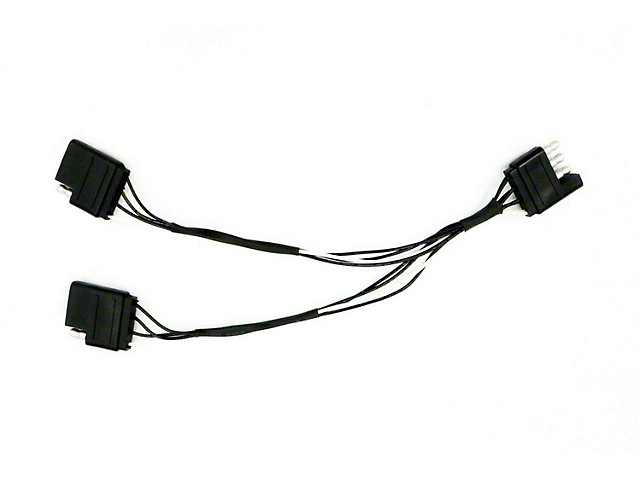 Tailgate Light Bar Y-Adapter Harness; 4-Pin Connector