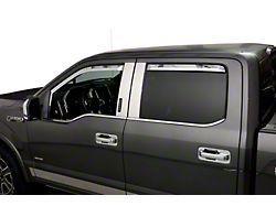 Element Chrome Window Visors; Channel Mount; Front (21-22 F-150)