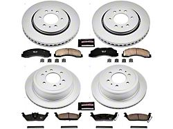 Power Stop Z17 Evolution Plus 6-Lug Brake Rotor and Pad Kit; Front and Rear (10-11 2WD/4WD F-150)