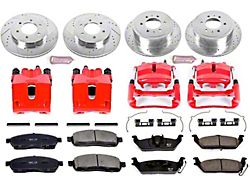 Power Stop Z23 Evolution Sport 6-Lug Brake Rotor, Pad and Caliper Kit; Front and Rear (2004 4WD F-150)