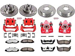 Power Stop Z36 Extreme Truck and Tow 5-Lug Brake Rotor, Pad and Caliper Kit; Front and Rear (99-Early 00 2WD F-150)
